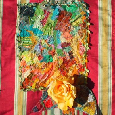 rose d'automne jacqueline fischer art textile