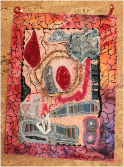 Antigone1 jacqueline fischer art textile red