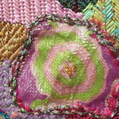 Art textile enluminures 3 detail jacqueline fischer