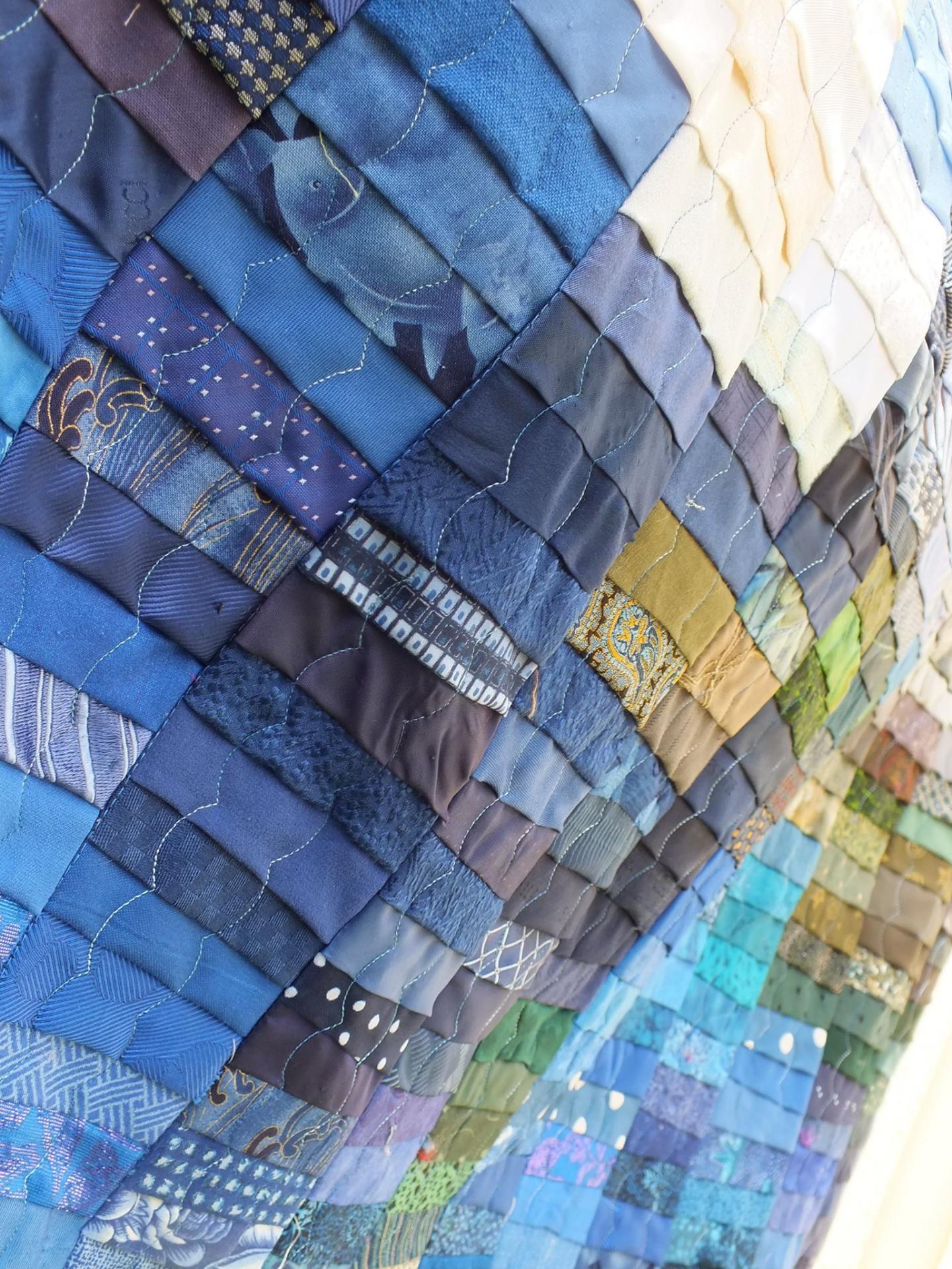 Au fil de l eau art textile jacqueline fischer det