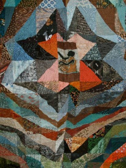 Berceau du monde red det jacqueline fischer art textile 2