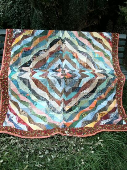 Berceau du monde red jacqueline fischer art textile c 1