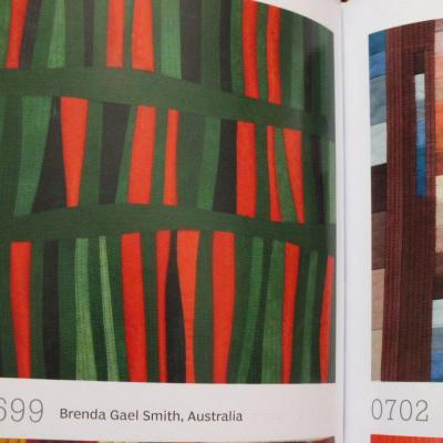 Bloc abstrait art quilt