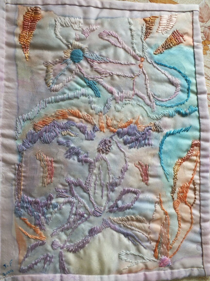 Bouquet flou 1 jacqueline fischer art textilered
