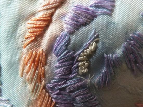Bouquet flou 2 red det jacqueline fischer art textile