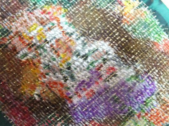 Bouquet flou art textile jacqueline fischer