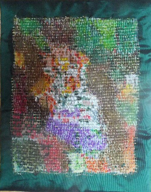 Bouquet flou art textile jacueline fischerpg