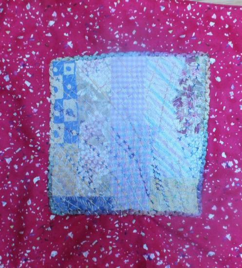 Cahier de vacancesred jacqueline fischer art textile