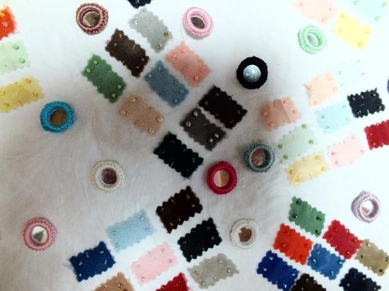 Carnet de bal jacqueline fischer art textile detred