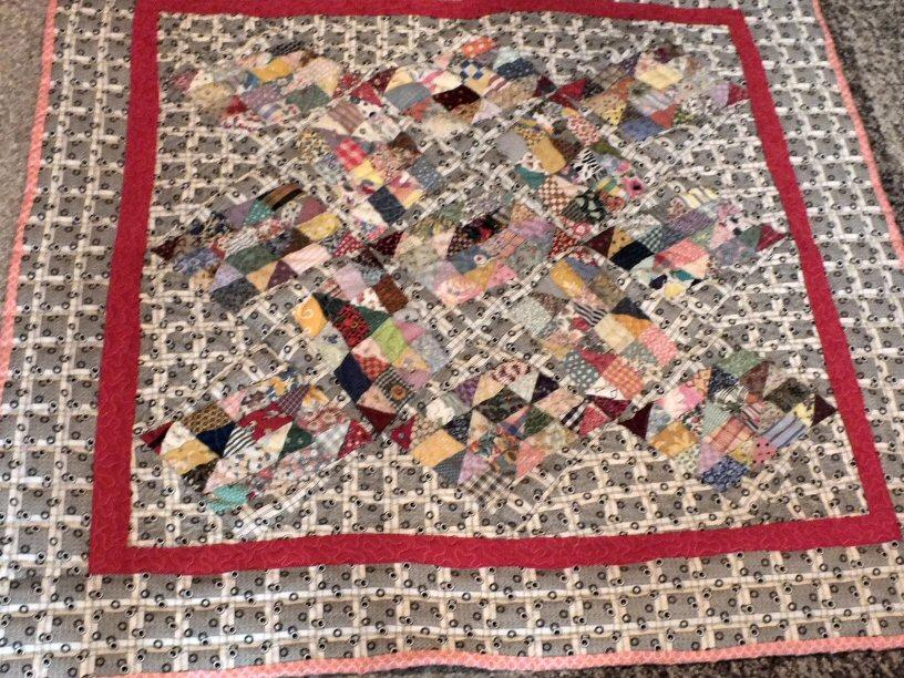 Carrousel art textile jacqueline fischer red
