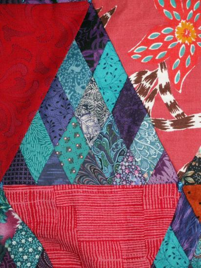 Confiseriesdet red jacqueline fischer art textile