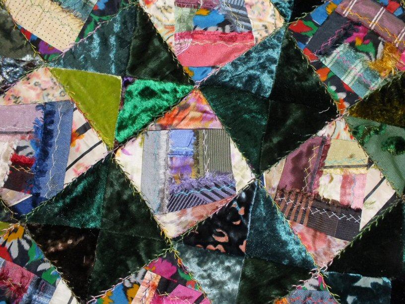 Crazy rose saloon jacqueline fischer art textile detail