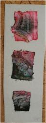 Declrnaison rouge jacqueline fischer art textile