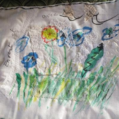 En vert et avec tout livre textiles d essais et d abandons jacqueline fischer 1