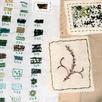 En vert et avec tout livre textiles d essais et d abandons jacqueline fischer 5