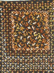 Enluminure 11 jacqueline fischer art textile red 1
