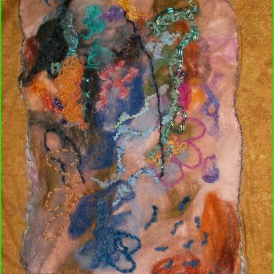 Laisse de mer art textile jacqueline fischer