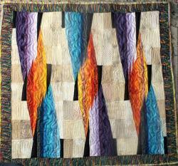 Le feu sacr jacqueline fischer art textilejpg