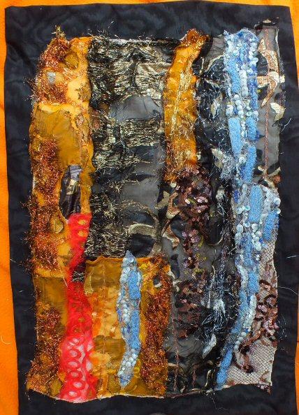 Les beaux restes 1 red jacqueline fischer art textile