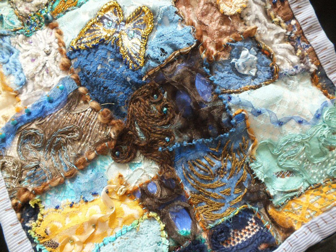 Les beaux restes 2 jacqueline fischer art textile det red