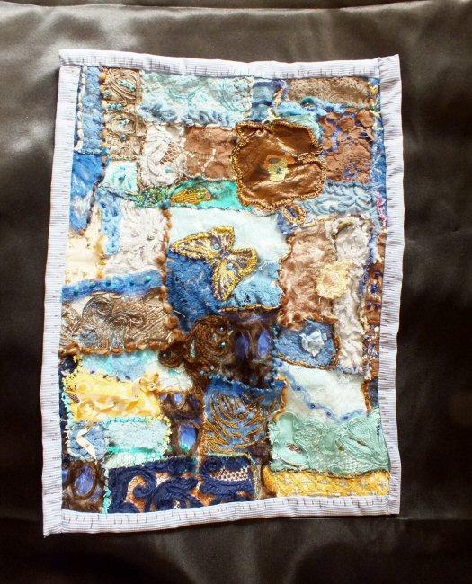 Les beaux restes 2 jacqueline fischer art textile red