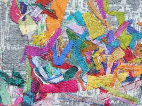 Les beaux restes 3 jacqueline fischer art textiledet red 1