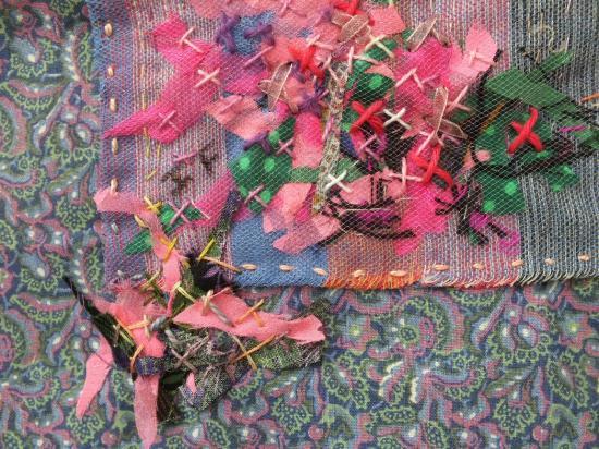 Les beaux restes 4 jacqueline fischer art textile det red