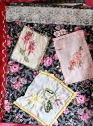 Lucette et jacqueline la page romantique jacqueline fischer art textile