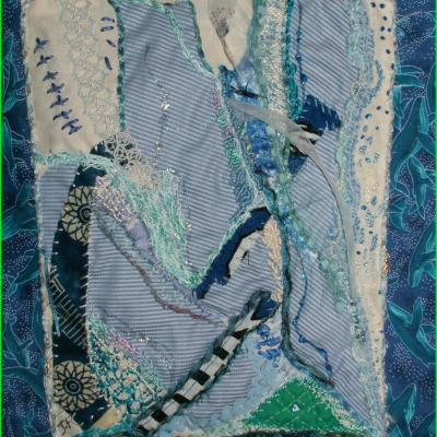 Marine art textile jacqueline fischer