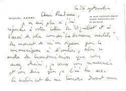 Michel henry carte 001