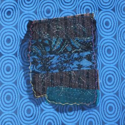 Nuit bleue art textile jacqueline fischer