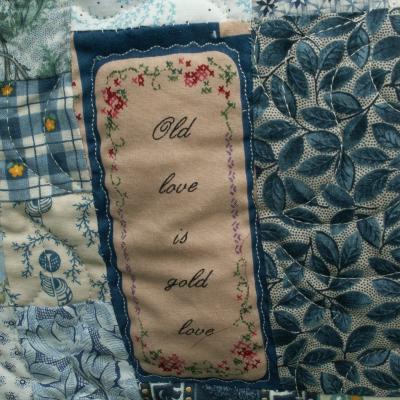 Old love is gold love jacqueline fischer art textile quilt 1