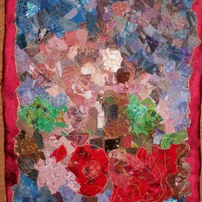 la rose secrète art textile jacqueline fischer