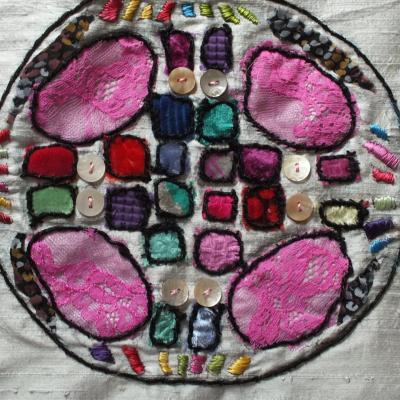 Ronds dans l o jacqueline fischer art textile 1