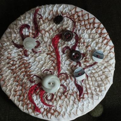 Ronds dans l o jacqueline fischer art textile 4