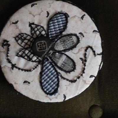 Ronds dans l o jacqueline fischer art textile 5